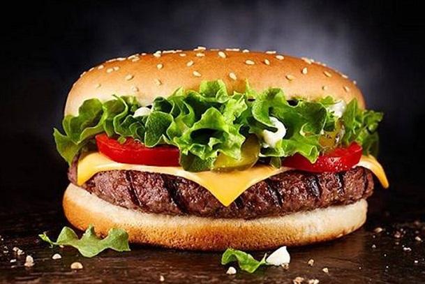 همبرگر کم چربی